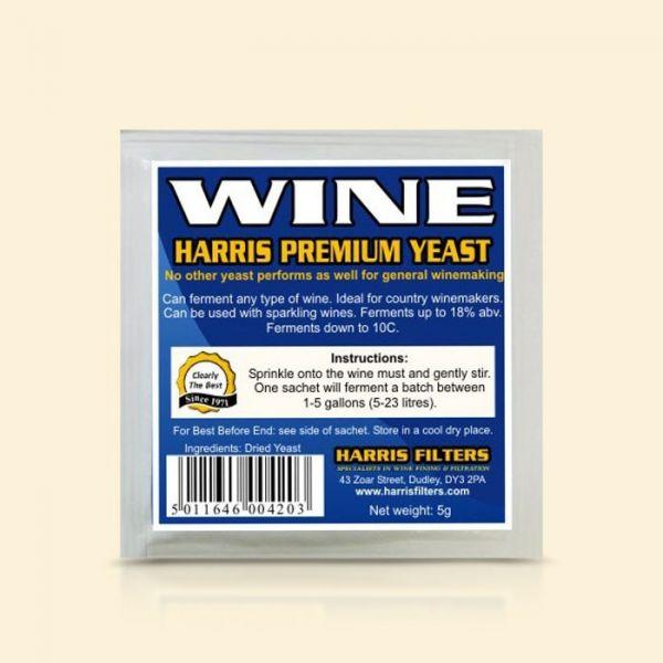 Универсальные винные дрожжи Harris Premium Wine Yeast