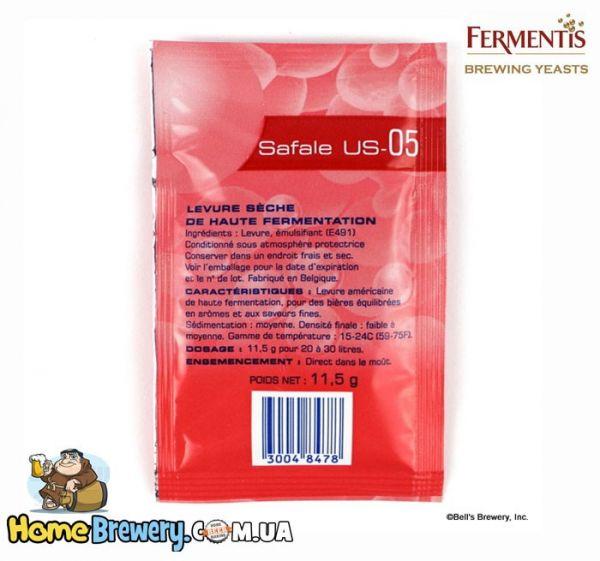 Пивные элевые дрожжи Fermentis Safale US-05