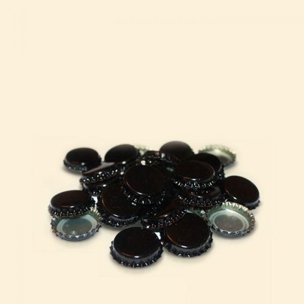 Кроненпробка черная для пивной бутылки 26мм 50шт.