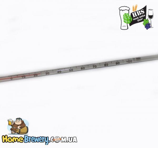 Термометр стеклянный для пивоварения 0°С -+100°С