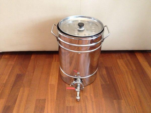 Сусловарочный котел (пивоварка) на 36 литров с бункером