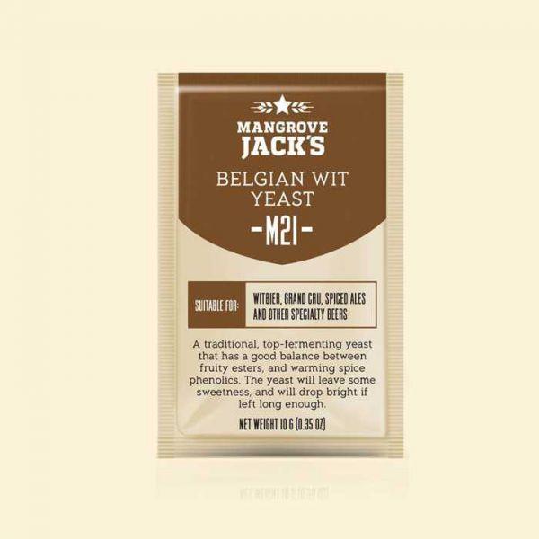 Дрожжи Mangrove Jack's Belgian Wit Yeast M21