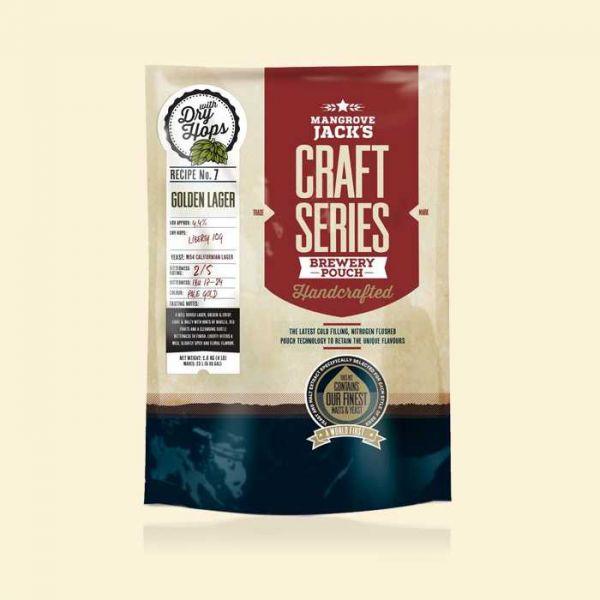 Солодовый экстракт Mangrove Jack's Golden Lager (1,8 кг) с сухим хмелем