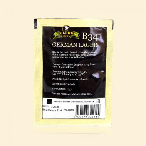 Крафтовые пивные дрожжи Bulldog B34 German Lager