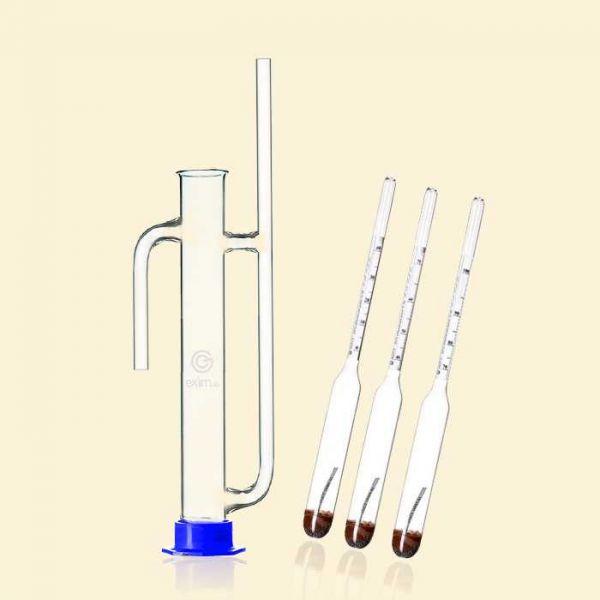 Набор ареометров для спирта АСП-3 с цилиндром Попугай