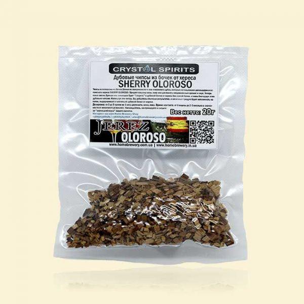 Дубовые чипсы из бочек от хереса CRYSTAL SPIRITS SHERRY OLOROSO CHIPS 20г