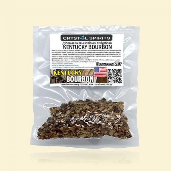 Дубовые чипсы из бочек от бурбона CRYSTAL SPIRITS KENTUCKY BOURBON CHIPS 20г