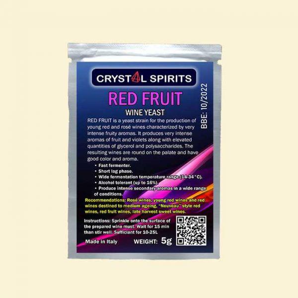 Дрожжи для ароматных красных и розовых вин Crystal Spirits Red Fruit Wine Yeast