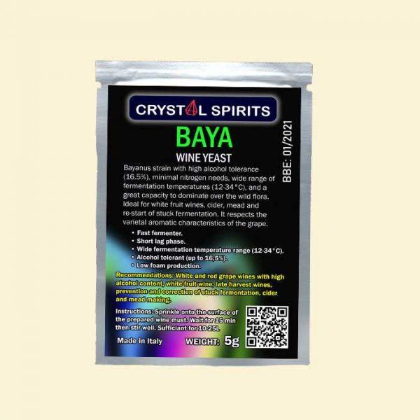 Дрожжи для белых и розовых фруктовых вин Crystal Spirits BAYA Wine Yeast