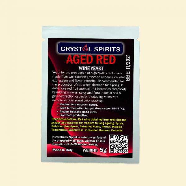 Дрожжи для выдержанных красных вин Crystal Spirits AGED RED Wine Yeast