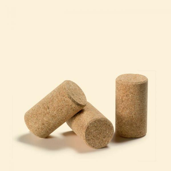 Пробка натуральная корковая кольматированная для вина 24/40мм 20шт.