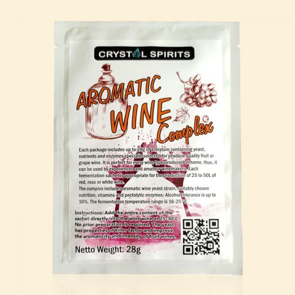 Дрожжи для фруктовых и виноградных вин Crystal Spirits Aromatic Wine Complex