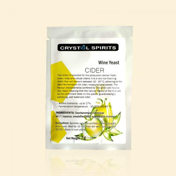Дрожжи для яблочного и грушевого сидра Crystal Spirits CIDER Yeast
